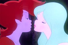 Here's the most obscure little gem I found today: it is the tale of a fire sprite and a water nymph(blue-fire, red-water) who have a Romeo-Juliet forbidden romance. Comedic, Profound, Epic, and very very sad. 4 people I loved died in it. Vintage Cartoon, Cute Cartoon, Cartoon Art, Aesthetic Gif, Aesthetic Pictures, Be Still Tattoo, Romeo Und Julia, Arte Disney, Animation