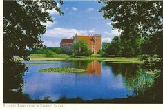 Schloss Svaneholm, Castle, Skurup, Sweden, postcard from Germany #Postcard