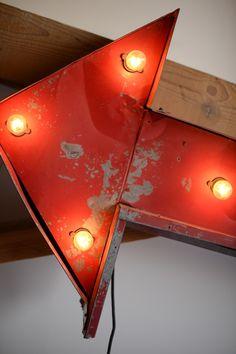 Found Vintage Rentals #red #arrow #light #vintage #eventdecor #eventdetails #vintagerentals