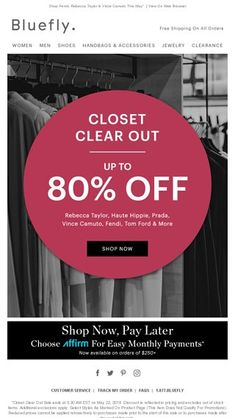 0f1aad8d30e4 Spring Cleaning Just Got Better ➜ Up To 80% Off Our Best Styles - Bluefly  Email Archive