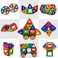Magtimes Magnetic Construction Toys Building Blocks Educational Toys with 40 PCS Construction Set Educational Stacking Toys for Toddlers and Adults ** You can get additional details at the image link.