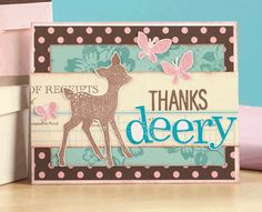 Thanks Deery Card by @Angie Hagist