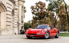 Preview wallpaper ferrari, dino, 206, gt, red, front view 3840x2400