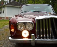Our 1969 Bentley T1 with the newly added Lucas driving/fog lamps.