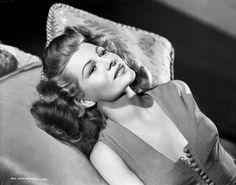 Rita Hayworth Lounging in Blouse Premium Art Print – Movie Star News