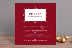Vintage Frame Holiday Party Invitations by Milkmaid Press at minted.com