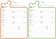 Disney Itinerary and Checklist PDF – Fred and Nicola