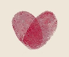 This would be a sweet sister tattoo, but it would take a long time because of the detail. Individual's thumbprints to make a heart. I could handle it, I think. @Kelsey Myers Schmitt