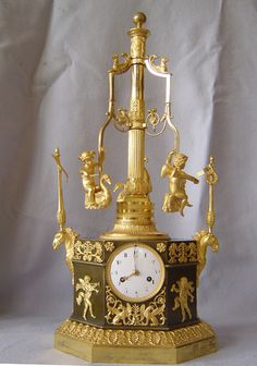 French Empire automaton carouselle clock ca 1805 http://marinni.livejournal.com/425206.html?thread=3683318