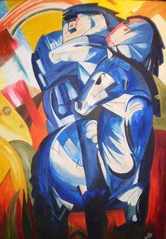 Franz Marc - Turm der blauen Pferde. 1913