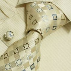 NEW Designer Hand Made Blue White Green Plaids Ties for Men Jacquard Woven Pure Silk Mens Necktie and Cufflinks Set with Matching Gift Box B1046