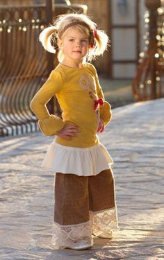 Persnickety Clothing Scissor Applique Top and Hazel Pant Set $132.00