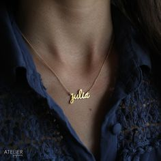 Name Necklace by ATELIER Gaby Marcos