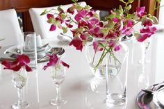 Mini Arranjos para a mesa com orquídeas