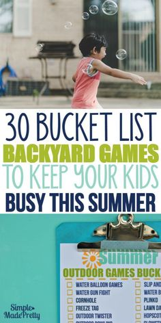 These summer activities for kids will keep boredom at bay! There's a free pr… These summer activities for kids will keep boredom at bay! There's a free printable summer bucket list with a checklist of 30 outdoor games to play during summer! Outdoor Twister, Outdoor Games To Play, Backyard Games, Outdoor Toys, Outdoor Fun, Lawn Games, Outdoor Activities, Summer Activities For Kids, Summer Kids