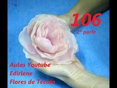 AULA 106: ROSA ABERTA DE ORGANZA PARA CABELOS (2ª parte) - YouTube
