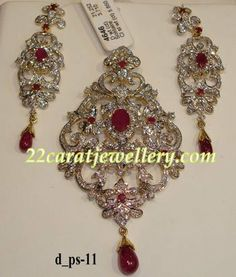 Jewellery Designs: Pendant Sets with Diamonds
