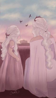 Daenerys Targaryen - Fanart - Daenerys Targaryen – You are in the right place about Makeup inspo Here we offer you the - Dessin Game Of Thrones, Got Game Of Thrones, Game Of Thrones Funny, Character Inspiration, Character Art, Character Design, Daenerys Targaryen Art, Khaleesi, Film Manga