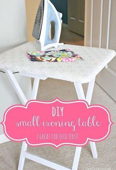 diy craft ironing table, craft rooms, crafts, painted furniture