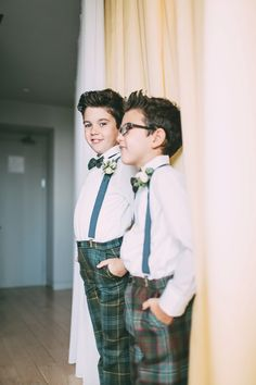 Boys wearing tartan trousers for a  Elegant and Family Focussed London Wedding | Photography by http://www.weddings.leegarland.co.uk/