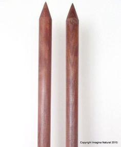 """Jumbo Giant Thickness Chile Oak Knitting Needles Chunky Custom 40mm wide x 40cm. Handmade wooden knitting needles, light in weight. Perfect for knitting with super chunky yarns for projects as blankets, cowls, scarfs. They are 40 mm in diameter and 40 cm (16"""") long. Our giant width needles are handmade in Constitucion, Maule, Chile using sustainably sourced native Oak. The wood is naturally a rich dark brown colour and is only lightly treated to produced a wonderfully smooth finish and is..."""