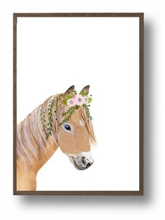 Watercolor ponies animal paintings equestrian decor by zuhalkanar