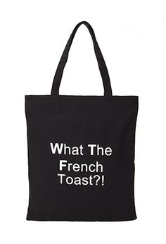 French Toast Canvas Tote | FOREVER21