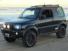 suzuki jimny preparado - Buscar con Google Suzuki Jimny Off Road, Jimny Suzuki, Mini 4x4, Montero Sport, Best 4x4, Expedition Vehicle, Japan Cars, Bmw Motorcycles, Pony Car