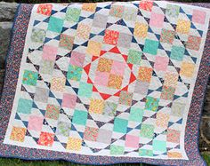 PDF Quilt PATTERN ....Layer Cake or Fat Quarter Friendly Nellie's Hope Chest quilt pattern. Beginner quilt pattern. affiliate link.