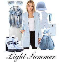 Ready for Winter - Light Summer by prettyyourworld on Polyvore featuring moda, BB Dakota, Kenzo, Meckela, Gap, White + Warren, STELLA McCARTNEY, Ray-Ban and Clarins