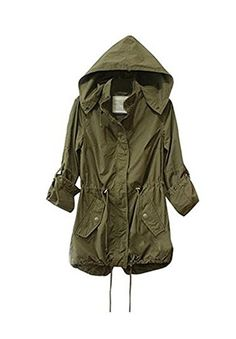 New Trending Outerwear: Taiduosheng Women's Army Green Anorak Jacket Lightweight Drawstring Hooded Military Parka Coat XL. Special Offer: $20.00 amazon.com Taiduosheng Women's Army Green Anorak Jacket Lightweight Drawstring Hooded Military Parka CoatGreat for daily casual wear in spring and autumn seasonHigh quality material, Zipper closureLightweight and soft, very comfortable to wearPlease ignore sizes...