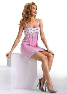 Nuisette Femme sexy rose blanc Tifani  DONNA S M L XL 2XL 3XL
