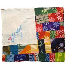 Batik Throw-Patchwork-Assorted-One Size. Front is patchwork of batik fabric scraps. Back is patchwork of recycled flour sacks. Each one is unique. x cotton. Africa Craft, Picnic Blanket, Outdoor Blanket, Bohemian Room, Recycled Fabric, Fabric Scraps, Special Gifts, Holiday Gifts, Sewing Projects