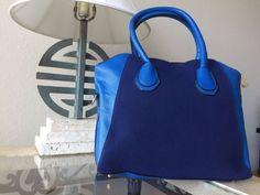 Blue Soft Elegant Classic Shoulder Bag Handbag With Long Strap #Other #ShoulderBag
