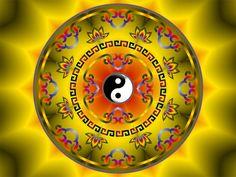 Yin Yang Mandala - the yin and yang of life. Yin Yang, Emoticon, Fractal Art, Fractals, Namaste, Tibetan Mandala, I Ching, Hare Krishna, Positive Thoughts