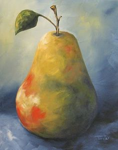 Torrie Smiley, Original Works of Art: Two New Pear Paintings Today~