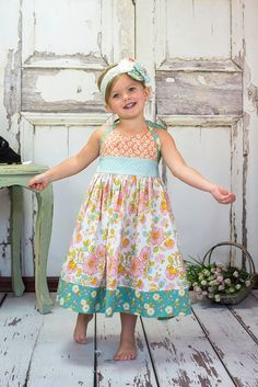Girls Halter Dress in Southern Belle baby toddler by ItsaBowsLife, $44.00
