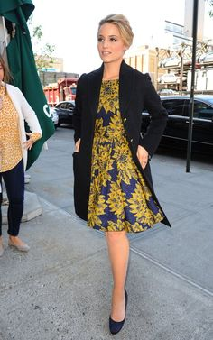 Dianna Agron.   This dress!!! Alice + Olivia by Stacey Bendet Fall 2012 Reese Flare Box Pleat Dress. WAAAAANT!!!