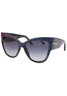 Tom Ford Women's Anoushka Cat Eye Purple Sunglasses