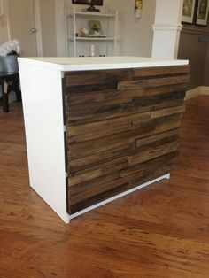 IKEA Hack, the front of this cabinet looks great.