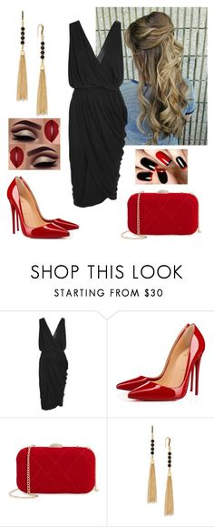 """""""Red & Black"""" by paoladouka on Polyvore featuring Michael Kors, Christian Louboutin, Nina and INC International Concepts"""