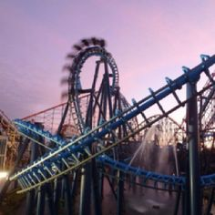 Spectacular photo of infusion at Blackpool Pleasure Beach.