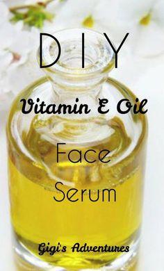 DIY 3-Ingredients Vitamin E Oil Face Serum | Gigi's Adventures #DrySkinOnFace Vitamin B Complex Benefits, Vitamin C Serum Benefits, Vitamins For Energy, Vitamins For Skin, Ritual Vitamins, Diy Eye Cream, Vitamin C For Face, Vitamin C Face Serum, Skin Treatments