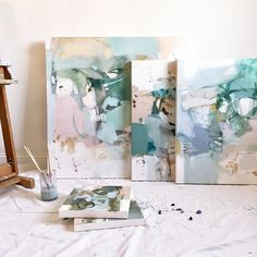 So happy to be back in Atlanta! New work in progress for @anneirwinfineart . Please contact Emily at staff@anneirwinfineart.com to be added to their follow up list regarding this body of work. ✨#workinprogress #abstractart