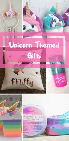 Adorable unicorn themed gifts for the unicorn lover on your gift list!! #unicorns #giftideas #affiliate