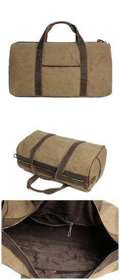 Waxed Canvas Duffle Bag/ Travel Bag/ Holdall/Luggage Bag Overnight Bag