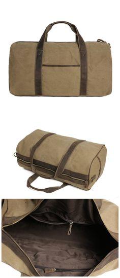 bbc7207d319 Waxed Canvas Duffle Bag  Travel Bag  Holdall Luggage Bag Overnight Bag  Canvas Duffle