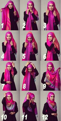 Step by step hijab tutorial