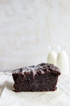 Dense chocolate loaf cake recipe- simple to make, complex in taste.