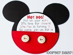 tarjeta de invitación de Mickey
